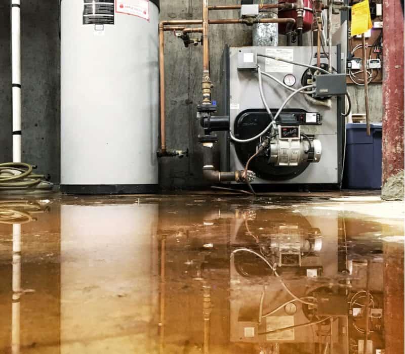 flooded basement water tank